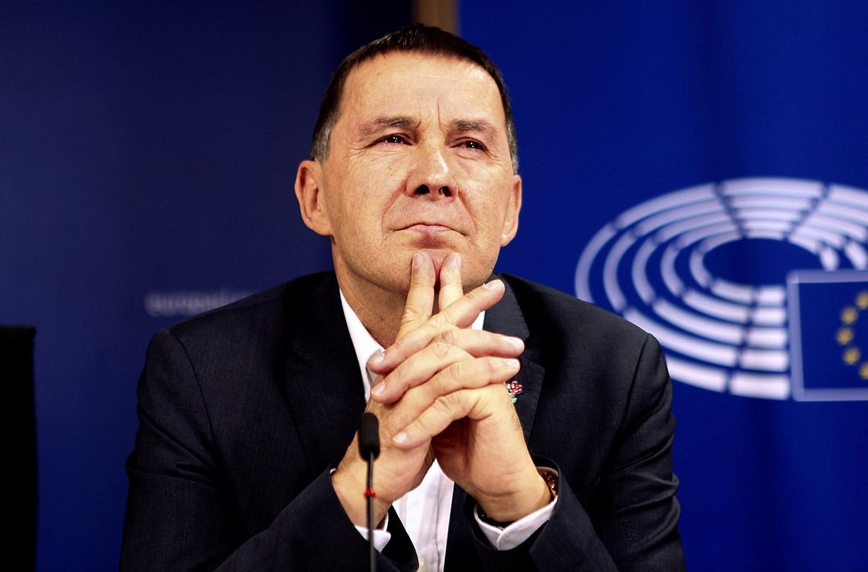 Arnaldo Otegi, atzo, Bruselan, Europako Parlamentuan. / EFE