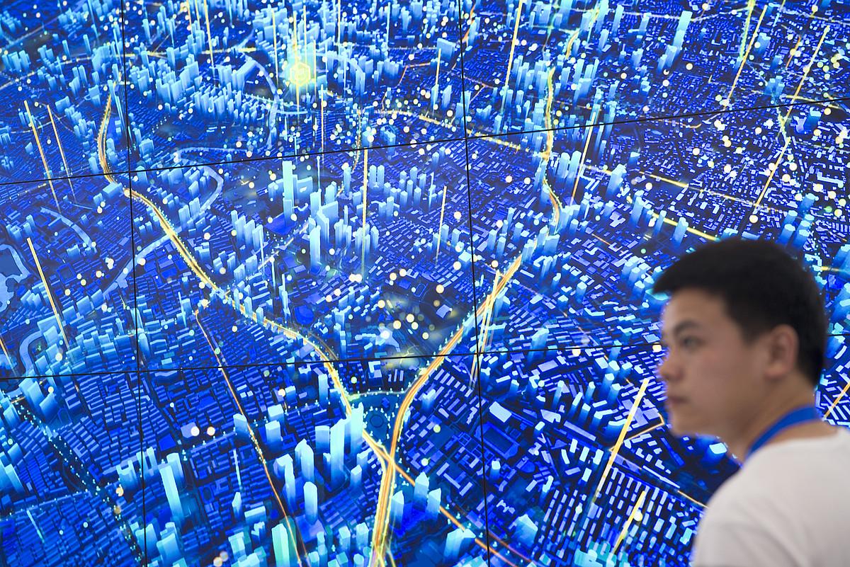 <em>Big data</em>-ren bistaratatzea Shanghaiko hirigune sistemetarako. ©ZIGOR ALDAMA