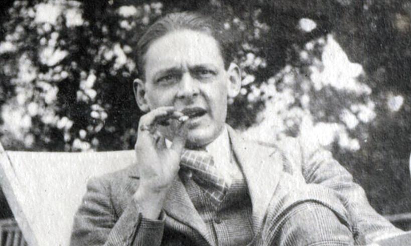T. S. Eliot, 1923ko igande arratsalde batean. ©NATIONAL PORTRAIT GALLERY