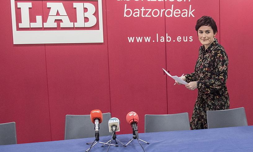 Garbiñe Aranburu, LABek Donostian duen egoitzan, artxiboko irudi batean. ©GORKA RUBIO / FOKU