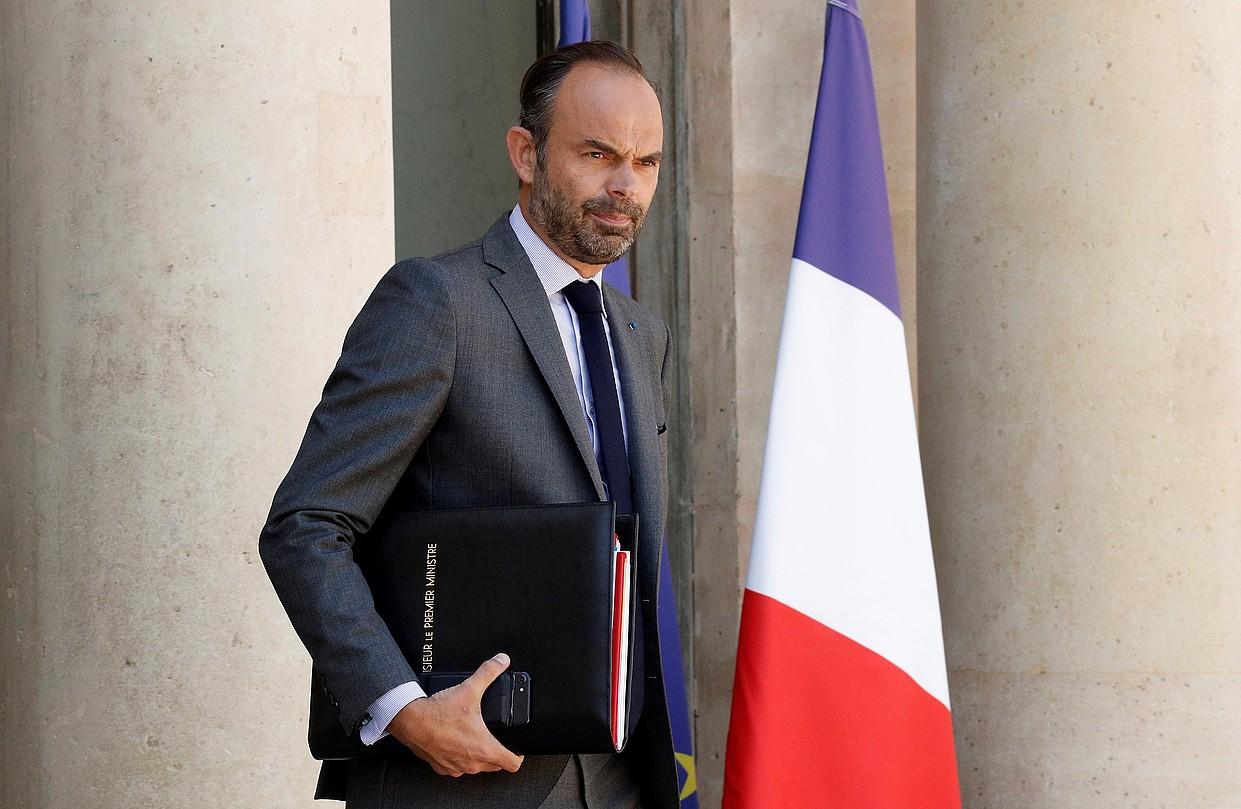 Edouard Philippe lehen ministroa, artxiboko irudian.