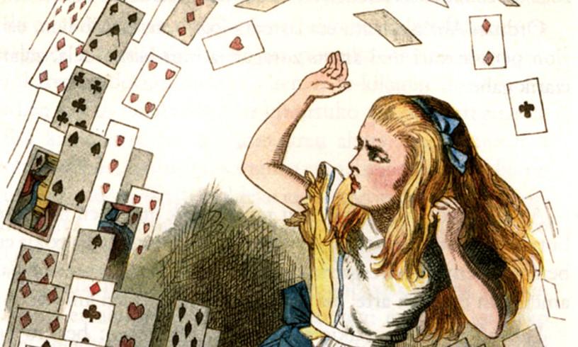 Lewis Carrollen libururako John Tennielek egindako ilustrazioetako bat.