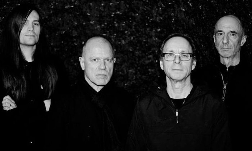 Matt Simms, Graham Lewis, Colin Newman eta Robert Grey. Wire, 2018an.