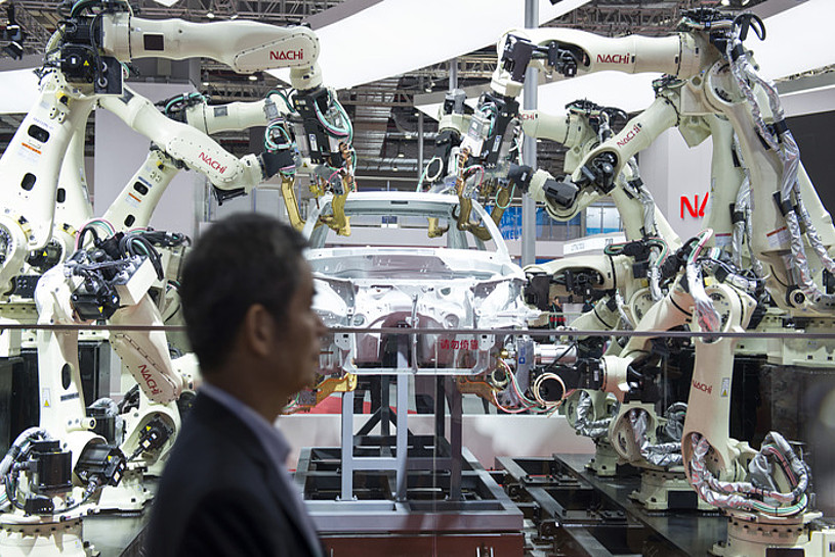 Industriarako robotetan Txina potentzia bihurtzea da <em>Made in China</em> planaren helburu nagusietako bat. &copy;ZIGOR ALDAMA