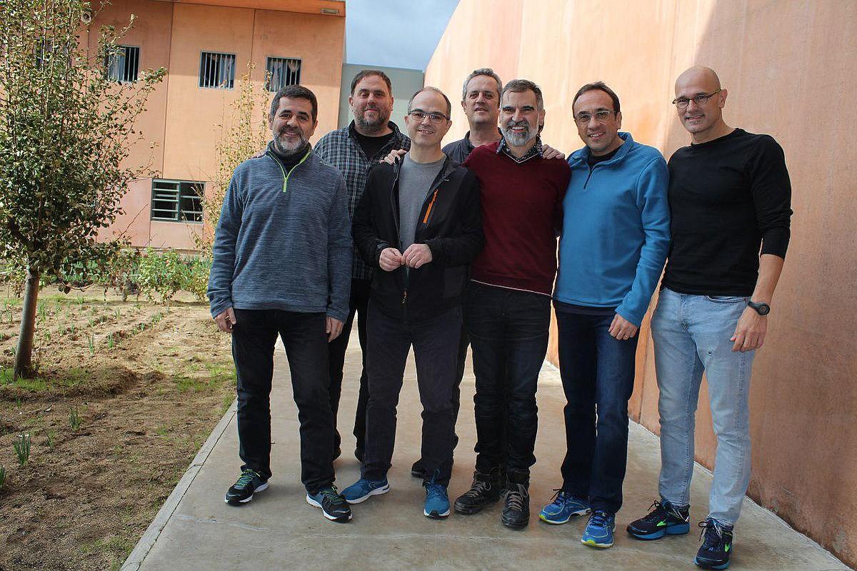 Lledonersko kartzelan dauden buruzagi katalan independentistak.