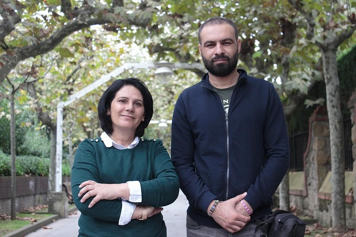 Jamila Hami eta Shewan Beri Kurdistango Ilargi Gorria erakundeko kideak Gasteizen izan dira. ©AITOR ASPURU