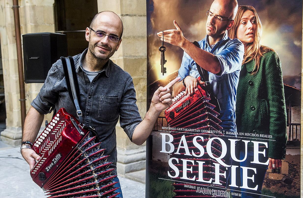 Agus Barandiaran musikaria, atzo, Bilboko Euskal Museoan. ©L. JAUREGIALTZO / FOKU