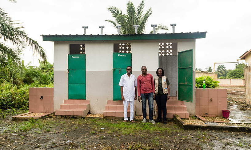 Ecosan komunak, Benineko Ahomadegbe komunitatean.