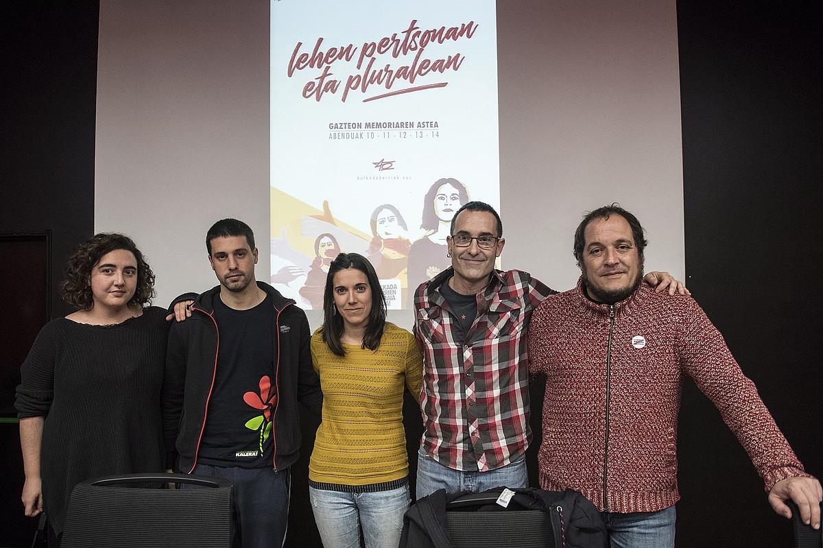 Maddi Altuna moderatzailea, Valdor, Sienra, Arzuaga eta Fernandez. ©G. RUBIO / FOKU