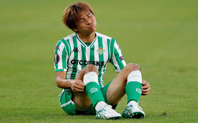 Takashi Inui, denboraldi honetan Betisekin jokatutako partida batean. ©RAUL CARO / EFE