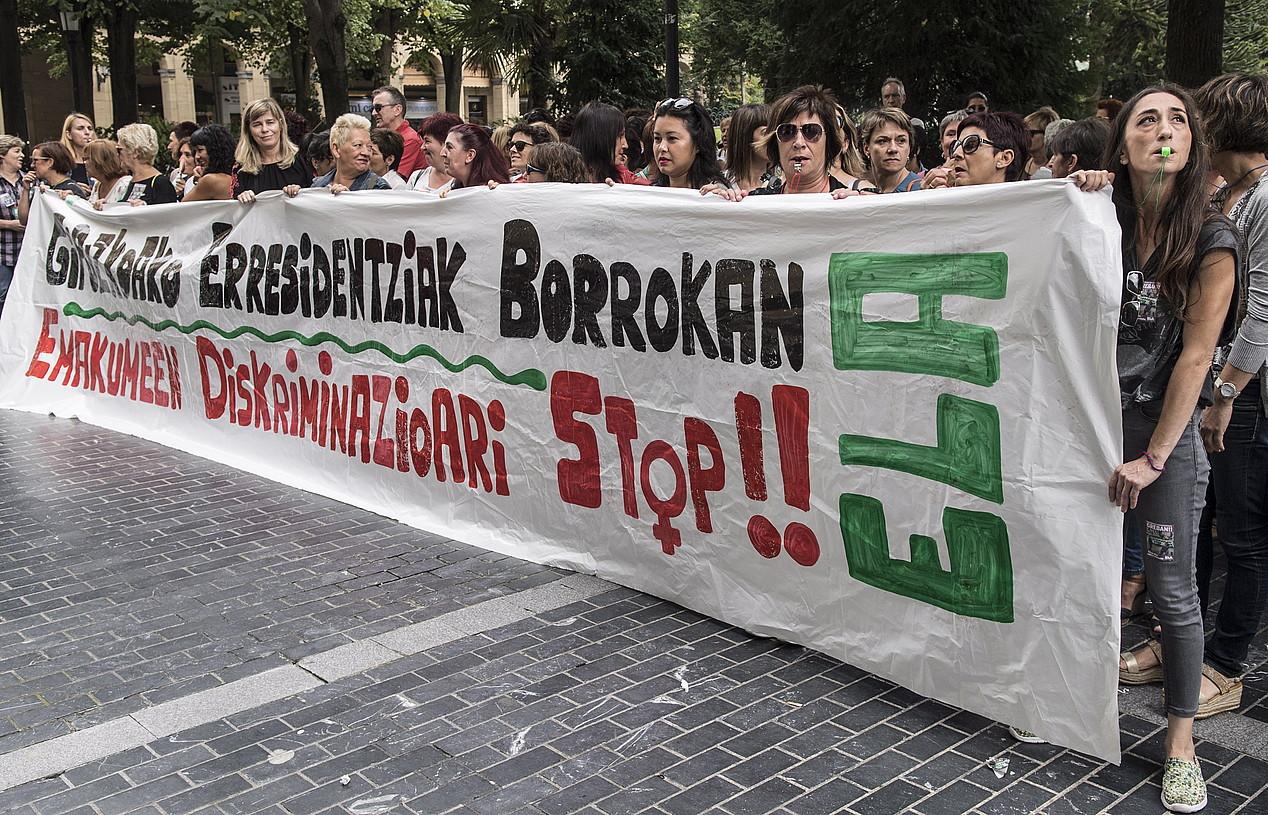 Gipuzkoako zahar etxeetako langileen mobilizazioa, irailean. ©JAGOBA MANTEROLA / FOKU