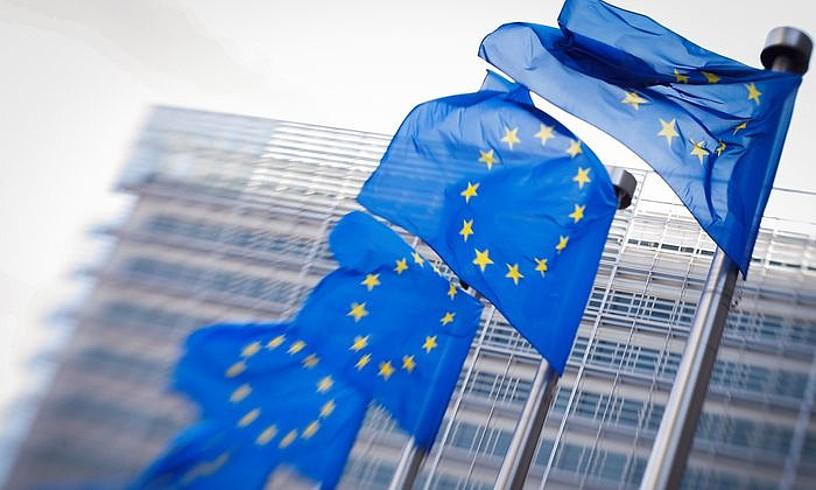 <b>Europako Batasuneko banderak, Bruselan.</b>