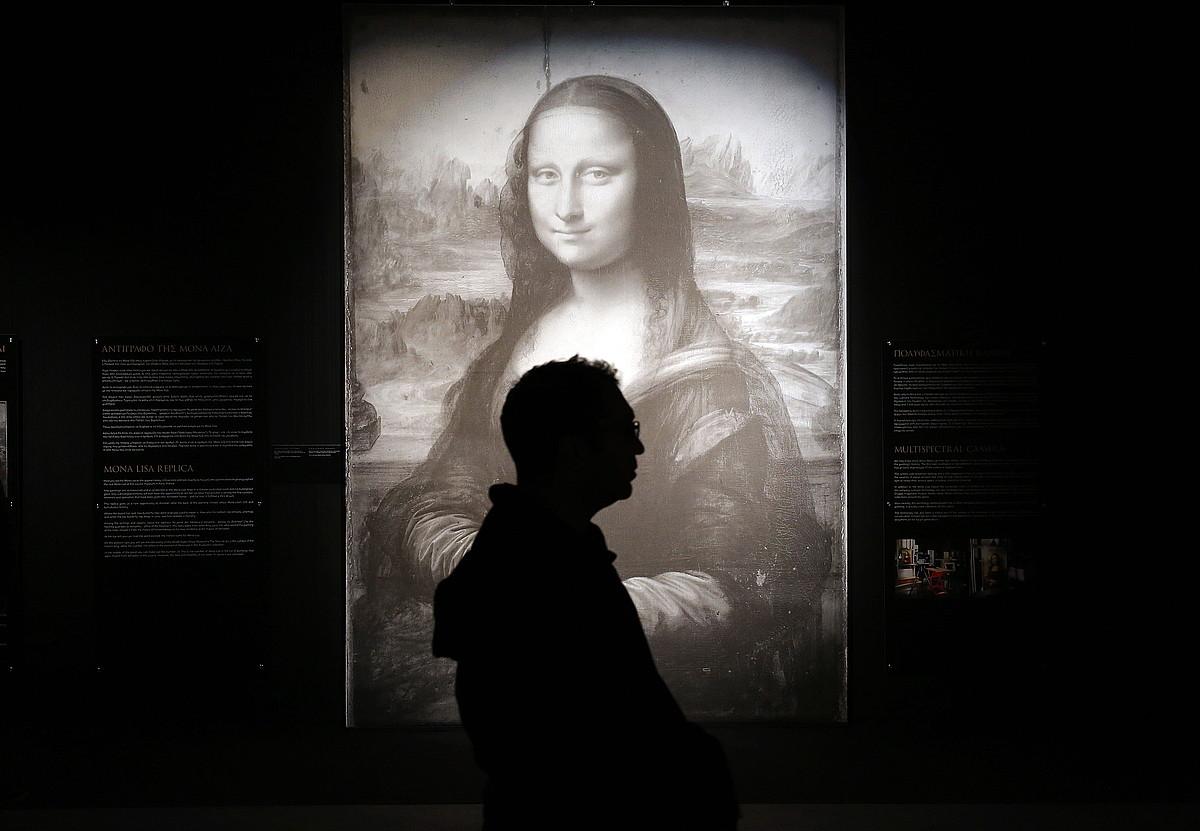 Da Vinci omentzeko Atenasen jarritako erakusketa. ©SIMELA PANTZARTZI / EFE
