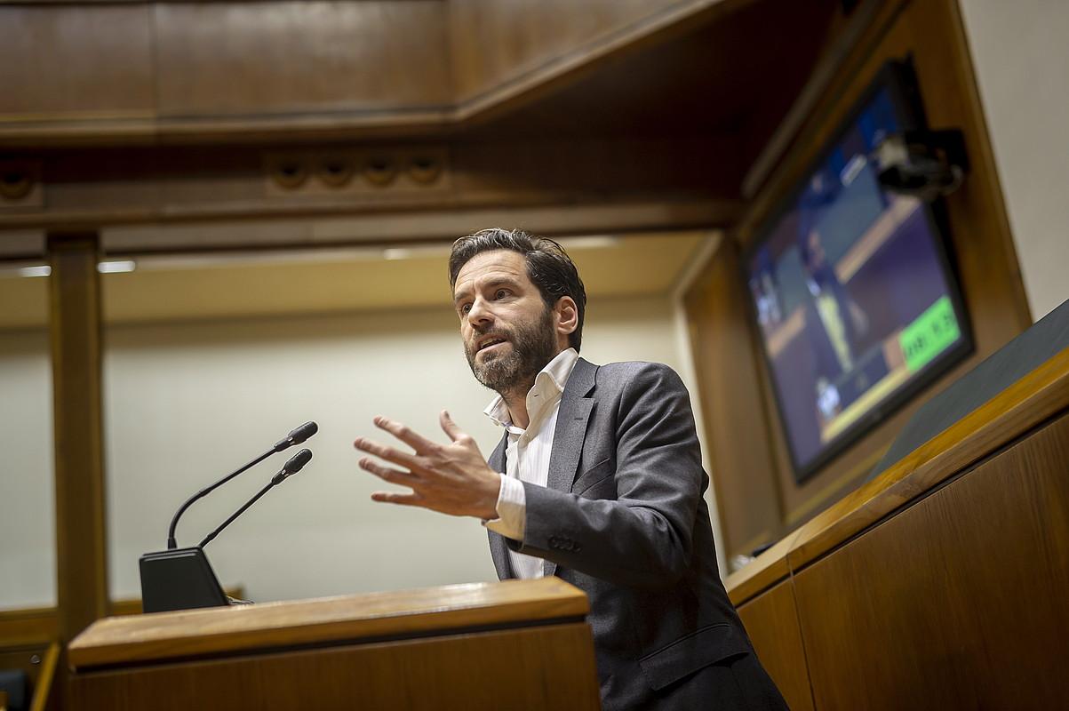 Borja Senper, azaroaren 28an, Eusko Legebiltzarrean. ©JAIZKI FONTANEDA / FOKU