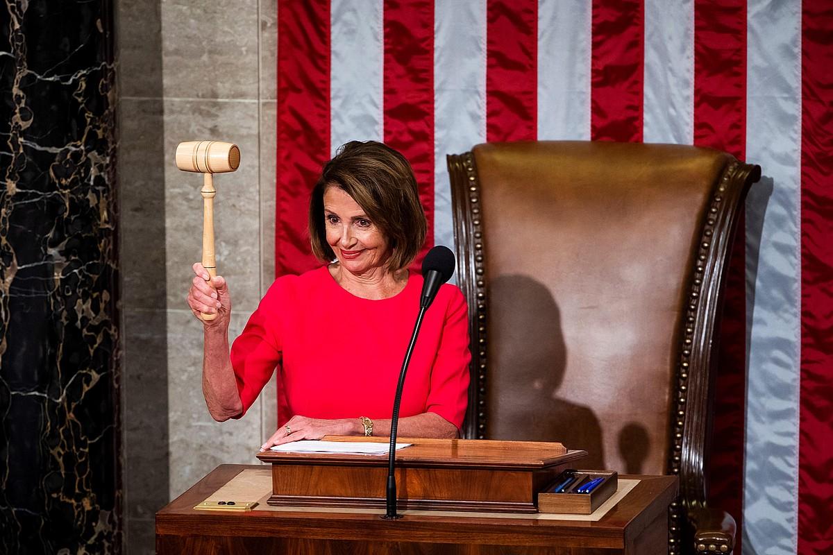 Nancy Pelosi demokrata atzo, AEBetako Ordezkarien Ganberako presidente aukeratua izan ondoren. ©SHAWN THEW / EFE