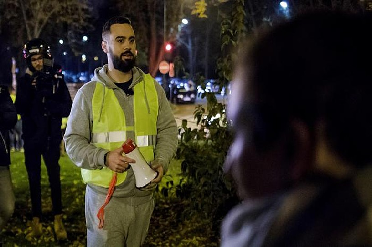 Eric Drouet Jaka Horietako kide ezagunetako bat, iazko azaroan, manifestazio batean. ©CHRISTOPHE PETIT TESSON / EFE