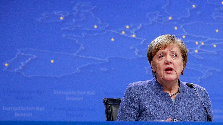 Angela Merkel Alemaniako kantzilerra, joan den abenduan, Bruselan, Belgikan. ©STEPHANIE LECOCQ / EFE