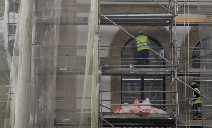 Beharginak Tabakalerako eraikinaren lanetan, Donostian. ©GORKA RUBIO / FOKU