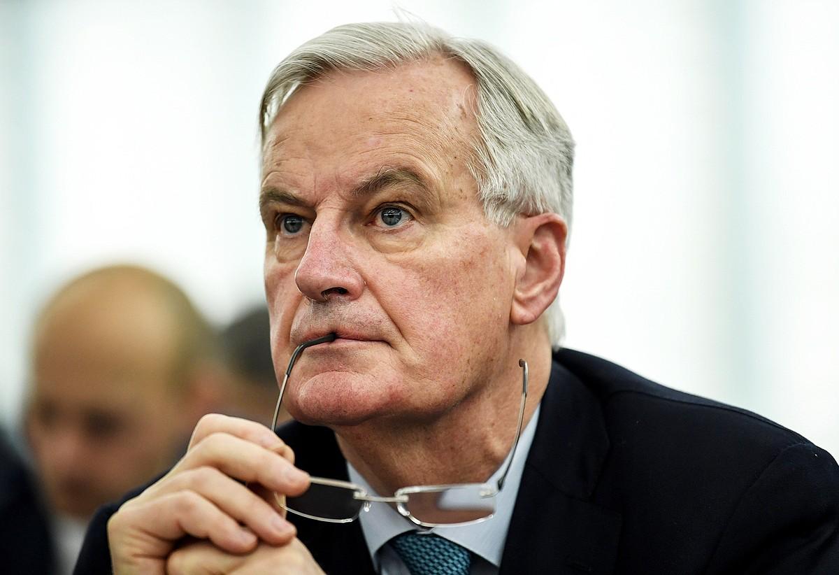 Michel Barnier Europako <em>brexit</em>-erako negoziatzailea, atzo, Parlamentuan, Estrasburgon. ©PATRICK SEEGER / EFE