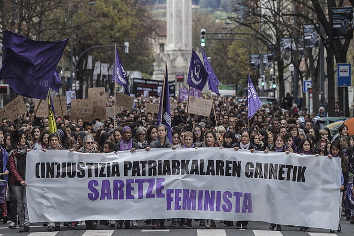 Indarkeria matxistaren aurkako protesta, Bilbon. ©ARITZ LOIOLA / FOKU