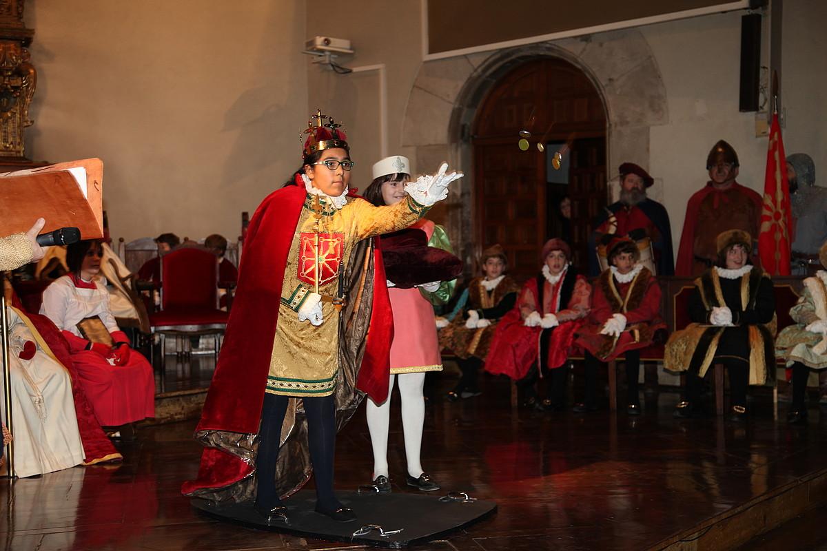 Iaz Tafallan ospatu zen besta. Irudian, Ruth Sustatxa, Nafarroako erregina izendatu berri. ©MUTHIKO ALAIAK