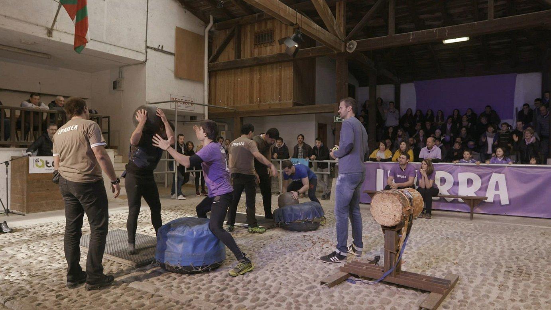 Mungiako probalekuan (Bizkaia) egin dituzte demak <i>Bostekoa</i> saiorako. Irudian, Tolosa-Ibarra lehia (Gipuzkoa). ©ETB