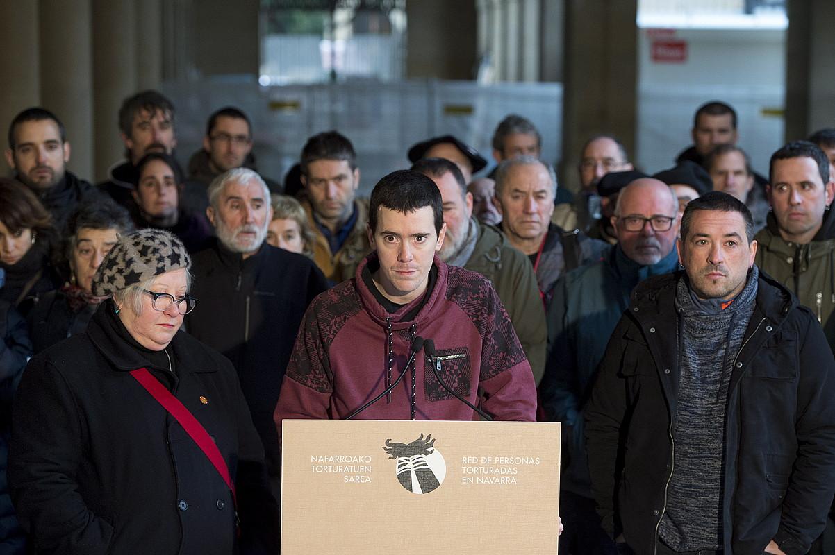 Oihan Ataun, Nafarroako Torturatuen Sareko bozeramailea. ©IÑIGO URIZ / FOKU
