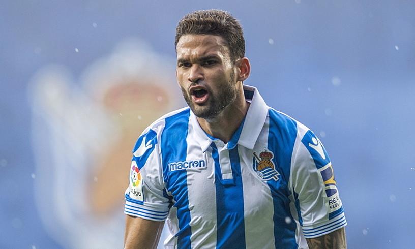 Willian Jose, Athletici sartutako gola ospatzen, joan den larunbatean, Anoetan. ©JUAN CARLOS RUIZ / FOKU