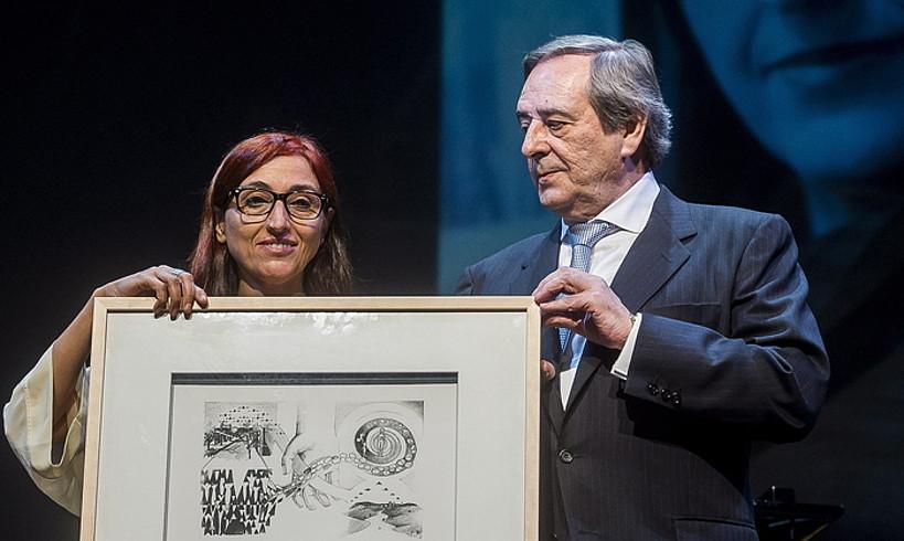 Helena Malenok jaso zuen iaz Gernika saria.