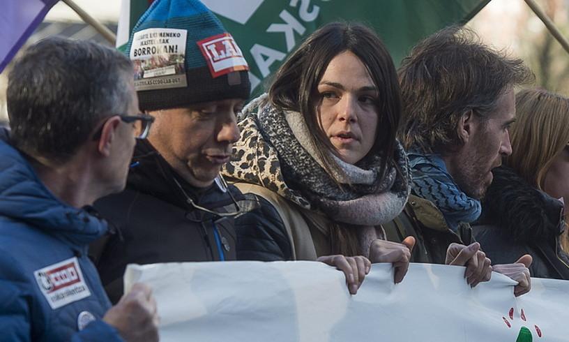 Beharginak, protestan, Bilbon, urtarriletako grebaldian. ©LUIS JAUREGIALTZO / FOKU