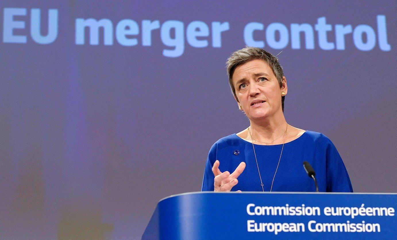 Margrethe Vestager, asteazkenean, Bruselan.