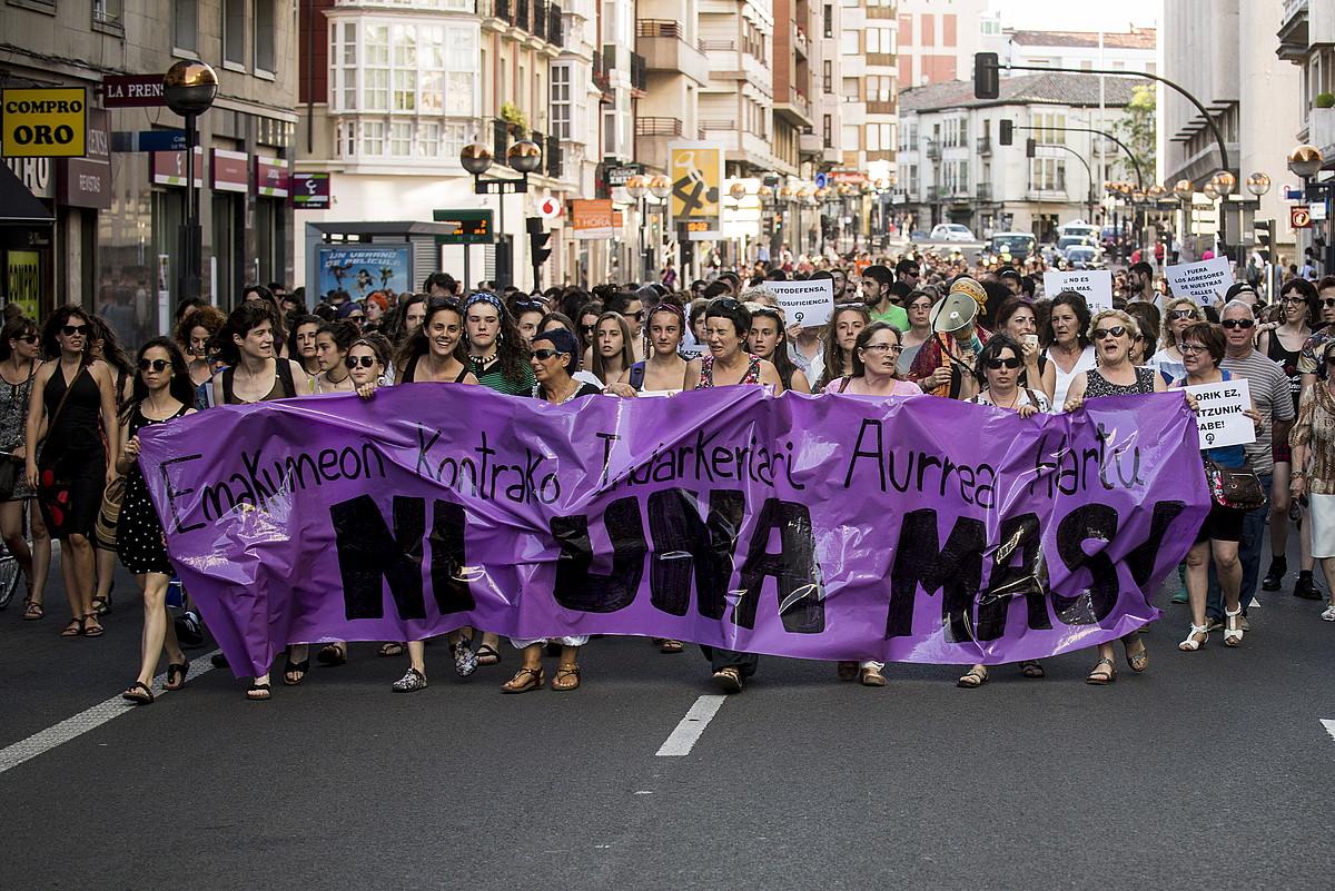 Mobilizazio jendetsuak eragin zituen Margaren hilketak 2016ko ekainean.