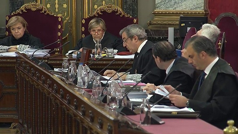 Javier Zaragoza fiskala hizketan, Auzitegi Gorenean, atzoko saioan. / EFE