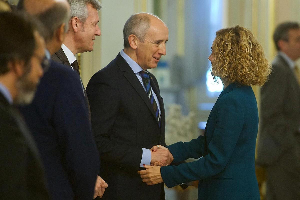 Josu Erkoreka Jaurlaritzako sailburua eta Meritxel Batet Espainiako Gobernuko ministroa, joan den urtarrilaren 30ean, Madrilen.