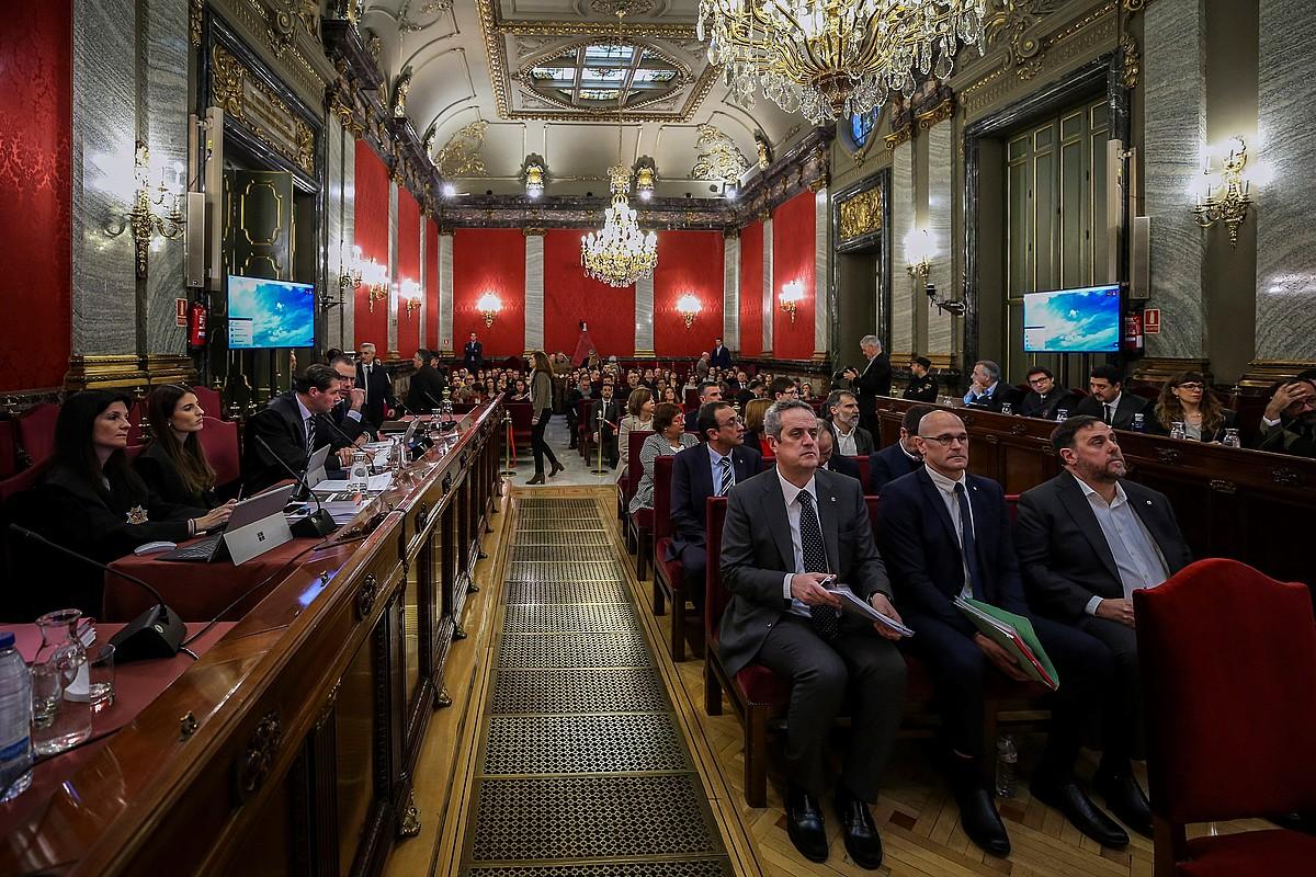 Forn, Romeva eta Junqueras auzipetuak, Auzitegi Gorenean. ©EMILIO NARANJO / EFE