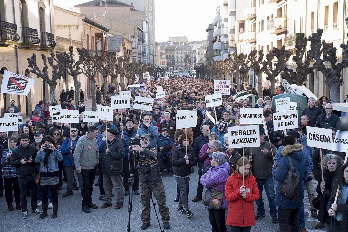 Tafallako protesta, atzo. ©IÑIGO URIZ / FOKU