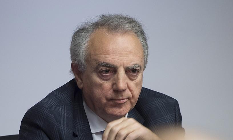 Miguel Sanz Nafarroako lehendakari ohia, Ikerketa Batzordean. ©IÑIGO URIZ / FOKU