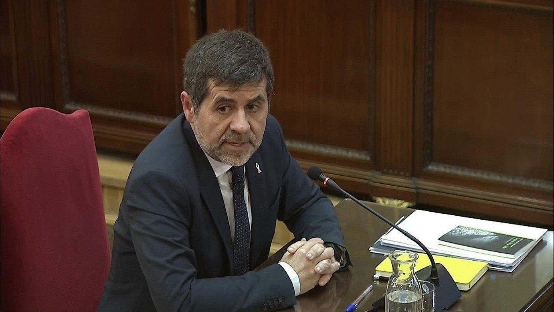 Jordi Sanchez ANCko presidente ohia Auzitegi Gorenean, atzo, xingola horia soinean duela. ©TRIBUNAL SUPREMO / EFE