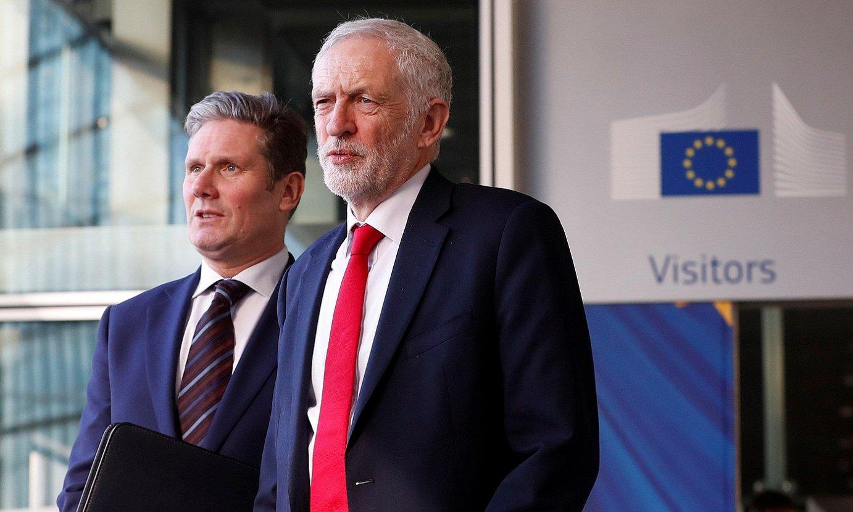 Jeremy Corbyn buruzagi laborista, atzo, Bruselan. ©OLIVIER HOSLET / EFE
