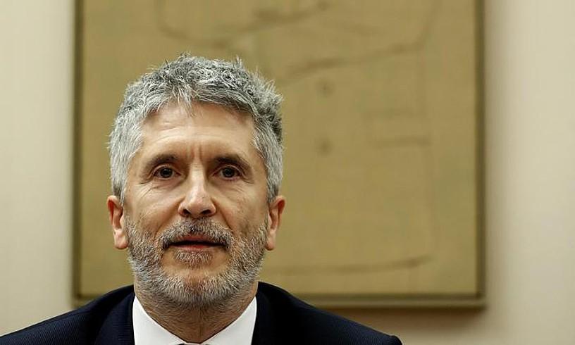 Fernando Grande-Marlaska Barne ministroa, herenegun, Kongresuan. / J. LIZON / EFE