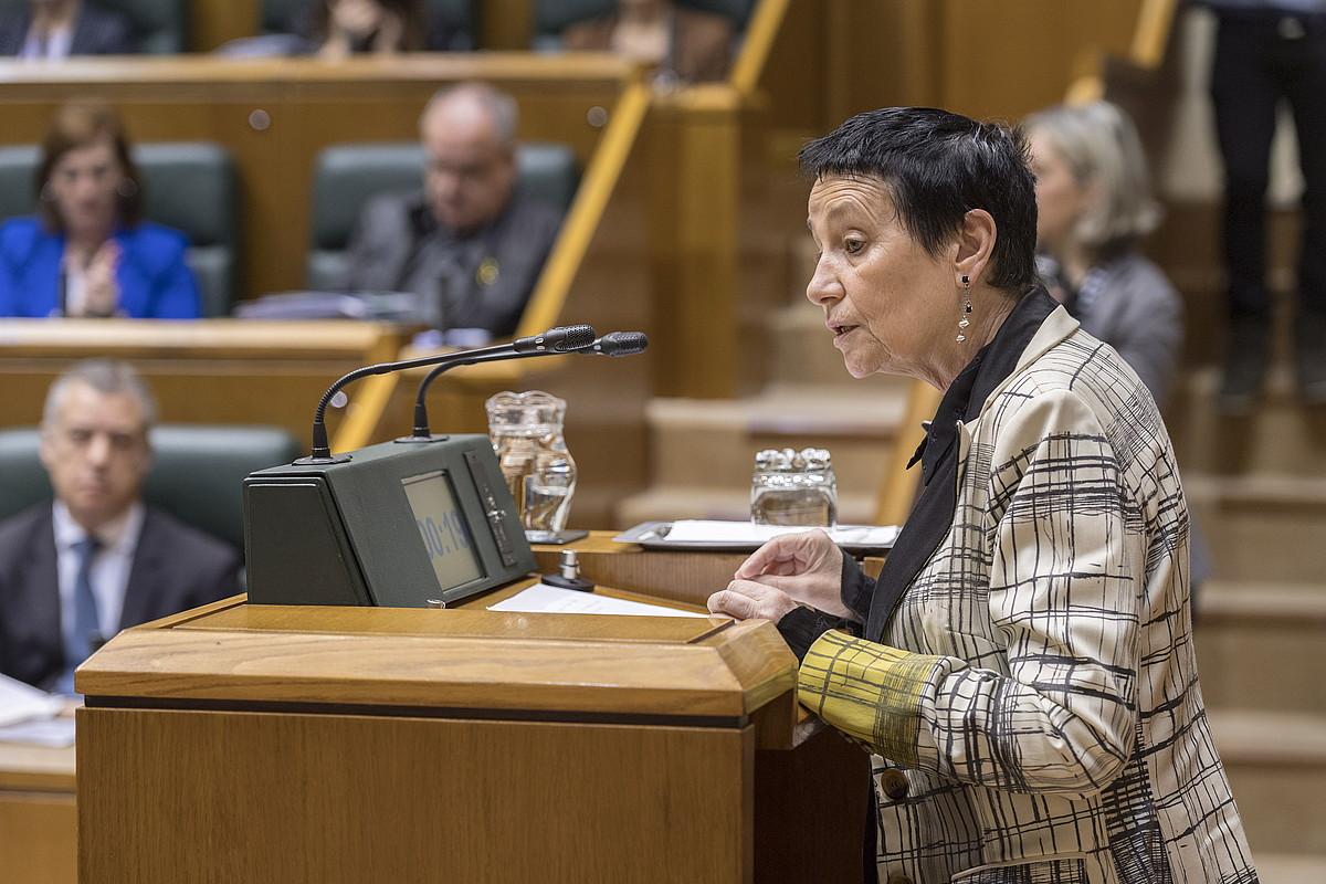 Jone Goirizelaia, iazko ekainean, Eusko Legebiltzarrean. ©JUANAN RUIZ / FOKU