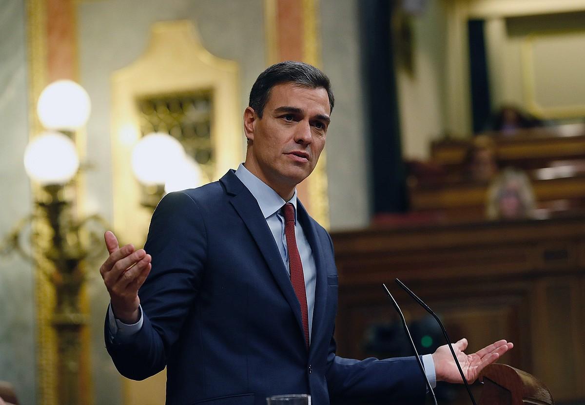 Pedro Sanchez, asteazkenean, Espainiako Kongresuan. ©J.P.GANDUL / EFE