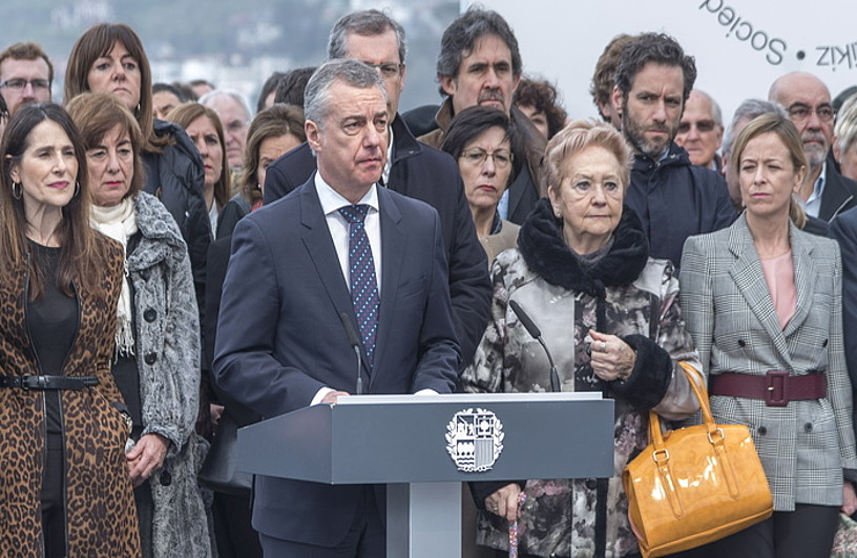 Iñigo Urkullu, herenegun, Donostiako ekitaldian. ©ANDONI CANELLADA / FOKU