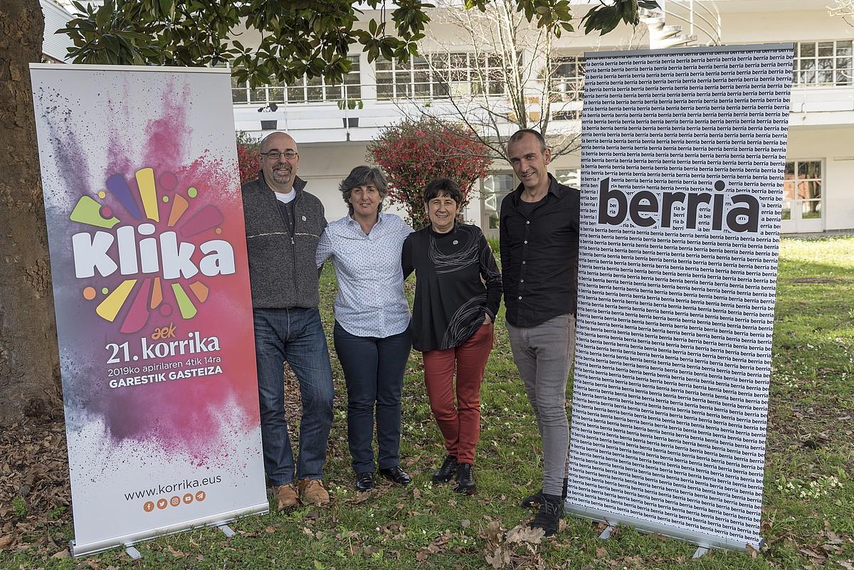 Asier Amondo, Beatriz Zabalondo, Mertxe Mujika eta Iban Arregi. / FOKU