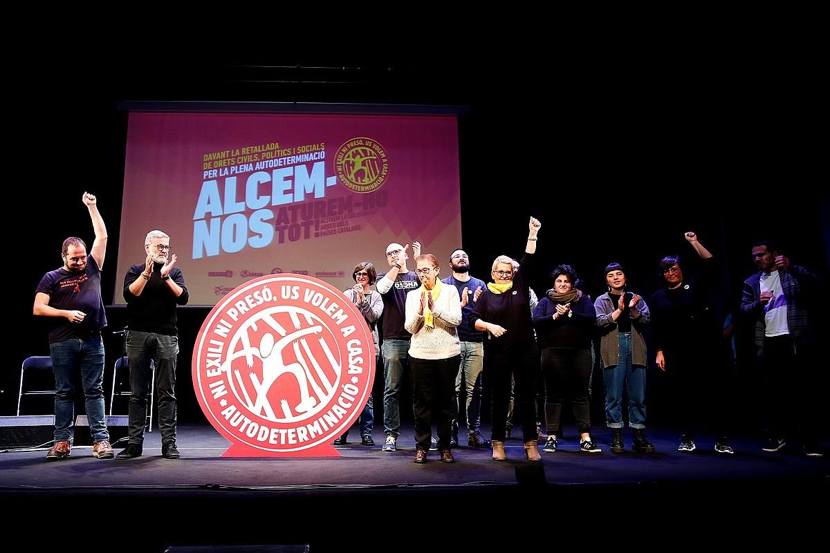 CUP koalizioa, joan den abenduko ekitaldi politiko batean. ©ALEJANDRO GARCIA / EFE