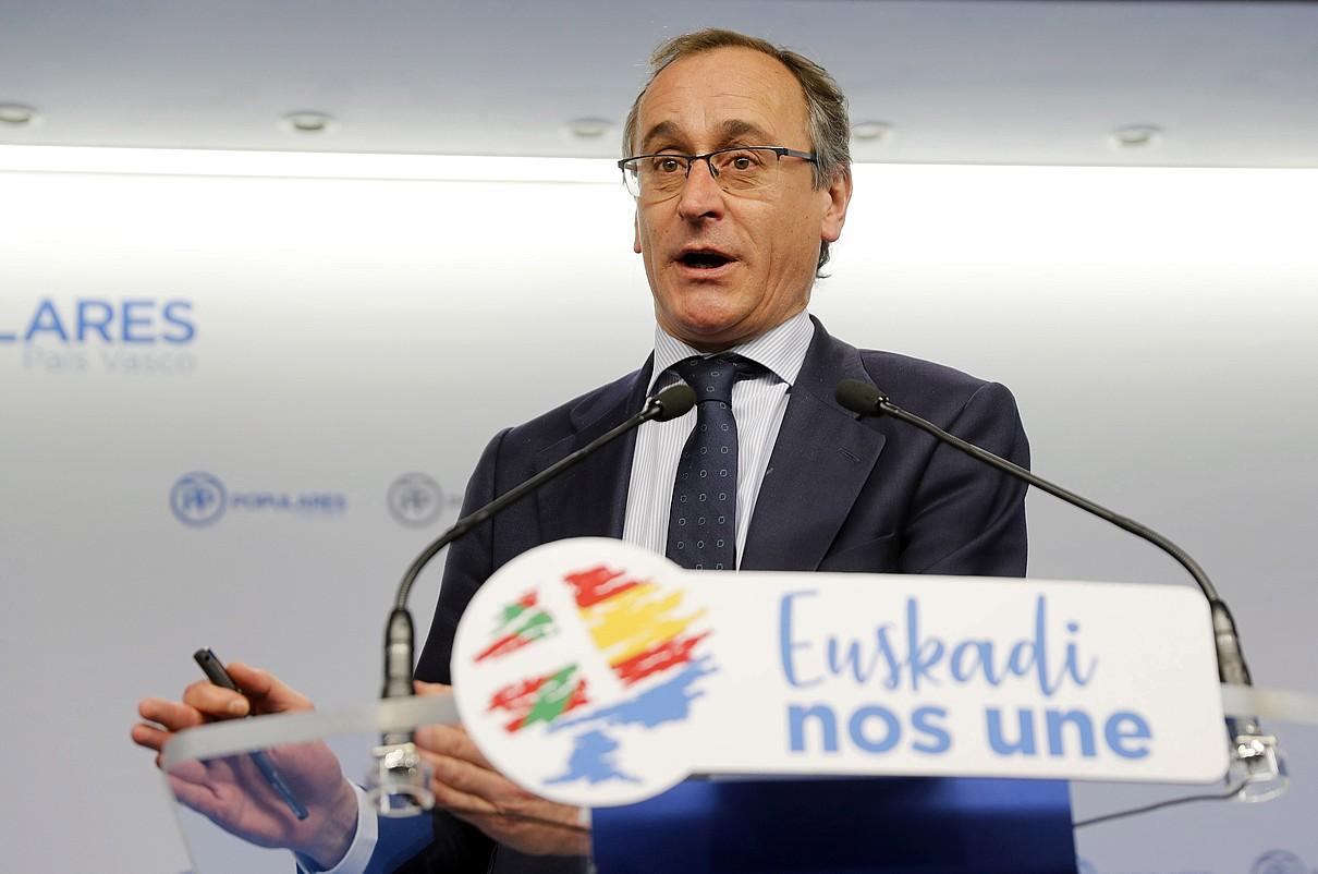 Alfonso Alonso EAEko PPko presidentea, urtarrilean, Bilbon. ©LUIS TEJIDO / EFE
