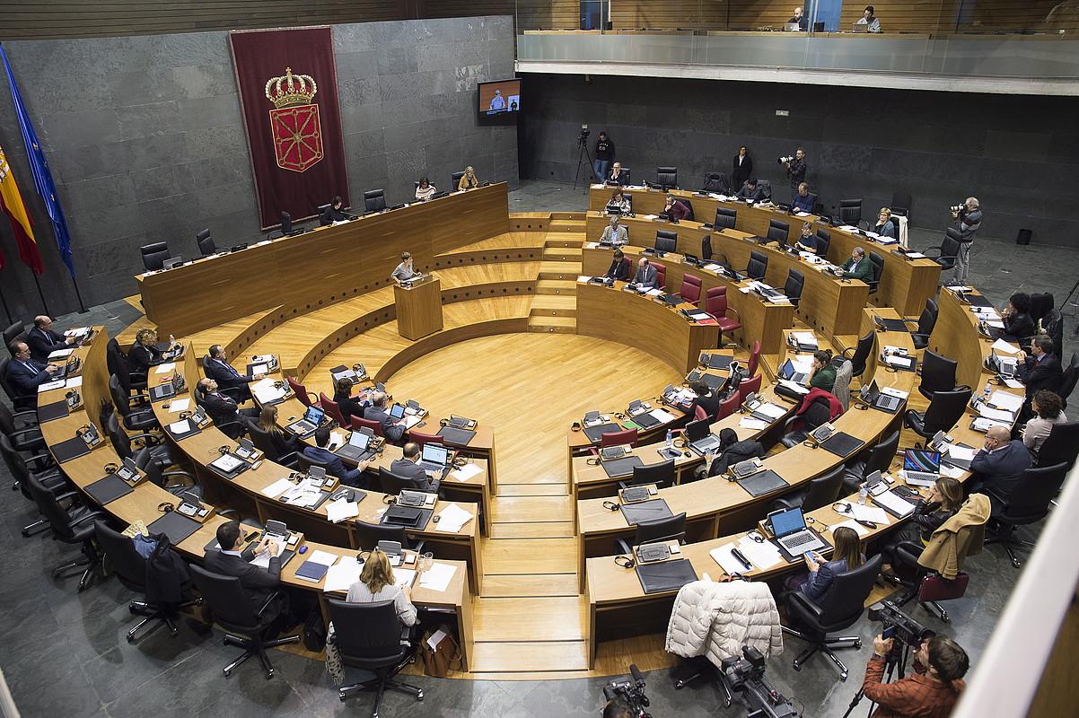 Nafarroako Parlamentuko saio bat.