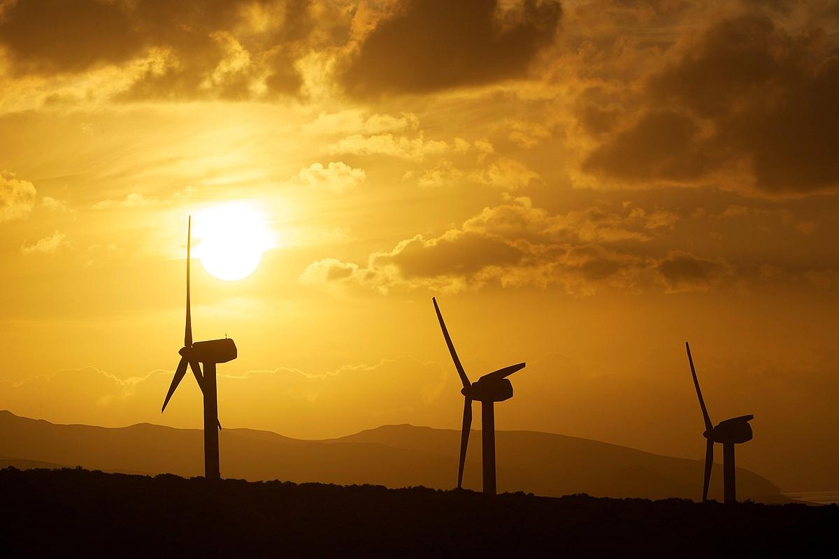 Energia eolikoa da bultzatu nahi dutenetako bat. ©CARLOS DE SAA / EFE