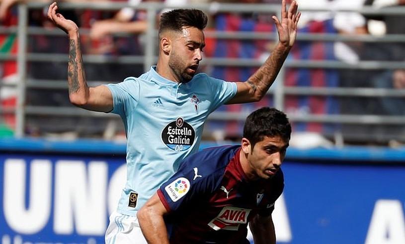 Eibarreko Jose Angel <em>Cote,</em> Celtaren aurkako partidan. &copy;JUAN HERRERO / EFE
