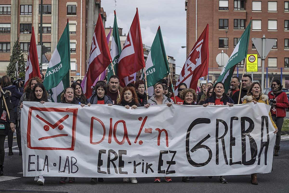 DIAko langile grebalarien manifestazioa, joan den ostiralean, Bilbon. ©ARITZ LOIOLA / FOKU